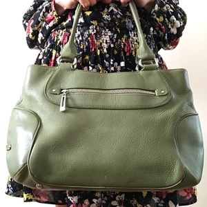 Cole Haan Bags - ColeHaan Field Green Leather Shoulder Bag